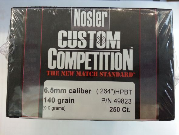 Palle Nosler Competition cal 6,5 gr 140 conf. 250